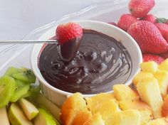 spicy chocolate fondue... the flavors of chocolate and Chilies come together.