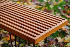 How to: Make a DIY George Nelson-Inspired Outdoor Slat Bench | Man Made DIY | Crafts for Men | Keywords: mid-century, bench, modern, manmade-original