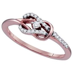Well hello lovely......I think the future Mr. Rosekelly-whateverhisnameis needs to see this!(Rose gold knot)