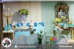 Festa de 15 Anos, decoração Azul TIffany debutante