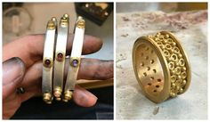 Handmade gold and gemstone jewelry by Reinstein Ross.