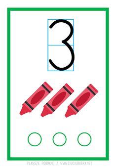 Plansze dydaktyczne od 0 do 10 do druku :) - Kreatywne pomysły na zabawy z dziećmi Preschool Math, Math For Kids, Learning, Blog, Cuba, Studying, Blogging, Teaching, Kindergarten Math