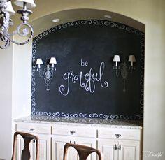 Dining Room {Chalkboard} Wall