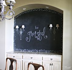 Dining Room {Chalkboard} Wall