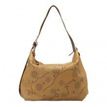 khaki sheepskin convertible shoulder handbag for women
