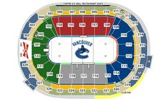 Vancouver Canucks Seating Chart / Map