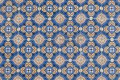 azulejos: Détail de carreaux émaillés portugais.