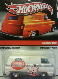 Hot Wheels 2009 Delivery Series Dubble Bubble '66 Dodge A100 Sweet Rides