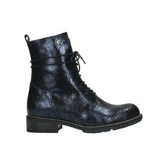 Wolky Murray 4432 in donkerblauw craquelé leer | Wolkyshop.com