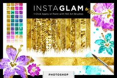 InstaGlam: Gold Creative Kit for PS by Creators Couture on Creative Market