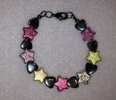 Stars and Hearts Children's Bracelet Heart For Kids, Hearts, Beaded Bracelets, Jewelry, Jewlery, Jewels, Jewerly, Jewelery, Heart