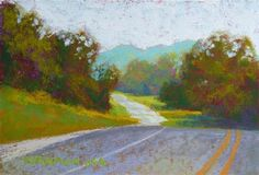 """Landscape Paintings and photographs Picture Description """"Road Sketch No. - Original Fine Art for Sale - © Rita Kirkman Small Paintings, Landscape Paintings, Landscapes, Impressionist Art, Fine Art Gallery, Figurative Art, Art For Sale, Amazing Photography, Nature"""