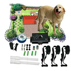 New Underground Shock Collar 3 Collars Pet Dog Electric Fence for 3 Dogs *** For more information, visit image link.(This is an Amazon affiliate link and I receive a commission for the sales)