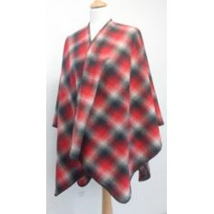 Cape LAMBSWOOL OMBRE RED