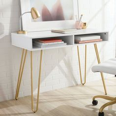 Small Desk, Cubby Storage, Home Office Design, Cheap Office Furniture, Modern Desk, Furniture, Desks For Small Spaces, Simple Desk, Bedroom Desk