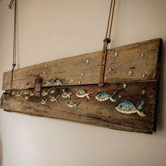 """Banco di pesci"" quadro a mosaico, misure 192x46cm. #nonsolopesci  #facebook #homify #mosaico #ocean #smaltiveneziani #design #oldwood #restaurantdecor #restaurantdesign #artista #art #fish #poisson #pesci #Cesenatico #rivieraadriatica #beachdesign #nauticalstyle #gallery #scuba #beautifuldecor #coastal #homedecor #vscocam #recyclewood #customdesign #homedesign #beautifulpainting #madeinitaly"
