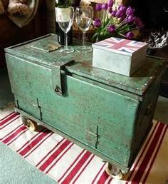Old chests for coffee tables