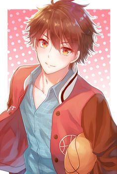 Image result for brown haired anime boy artist