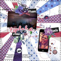 Layout made with the new Dutch Choice September @digiscrapnl and my finsl entry for the Masters of Scrap Competition @scrapaneers : the Eclectic Challenge