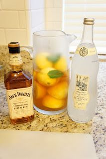 Spiked Arnold Palmers with Honey Jack Daniel's Whiskey! The best summer cocktail there is. You can't even taste the alcohol.