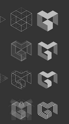 logo inspiration // process // MG logo by Jan Zabransky, via Behance Web Design, Game Design, Layout Design, G Logo Design, Design Color, Food Design, Corporate Design, Brand Identity Design, Corporate Branding