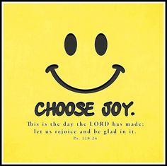Chose joy :)