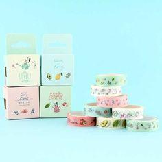 Spring Mood Washi Masking Tape Set - 2 pcs