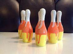 Candy Corn Bowling Pins