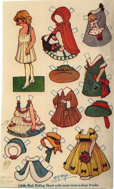 The 2008 Paper Doll Convention Archive: Little Red Riding Hood by M.G. Hays