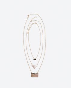 ZARA - WOMAN - PACK OF 3 MOTHER OF PEARL NECKLACES