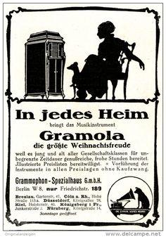 Original-Werbung/ Anzeige 1915 - GRAMOLA /  GRAMMOPHON SPEZIALHAUS - BERLIN  -  ca . 80 x 120 mm