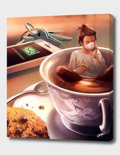ᐅ Die 99 Besten Bilder von Illustration in 2019 Cyril Rolando Cyril Rolando, Coffee Art, Coffee Drawing, Cartoon Art, Cartoon Ideas, Cute Drawings, Cute Art, Art Girl, Amazing Art