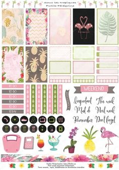 10 Tips on How to Be an Excellent Event Planner Summer Planner, To Do Planner, Mini Happy Planner, Free Planner, Planner Pages, Planner Ideas, Pages D'agenda, Motif Tropical, Printable Planner Stickers