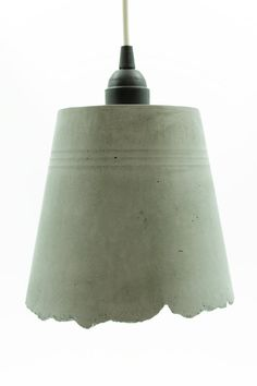 Concrete Pendant Lamp  Blue Interior by TheMakerage on Etsy, $175.00