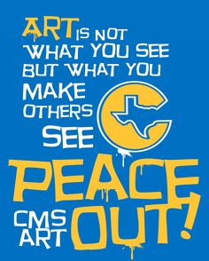 Corsicana Middle School Art Class T-Shirt (Back Design) The front design is the Masterpeace Ragz Logo from the art teachers apparel line he designed in the 1990s.