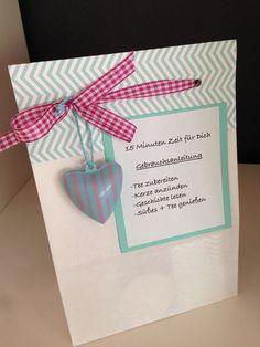 15  Minuten Zeit für Dich - Tee - Geschenkset - von Heikes Kreativseite + Skippydog auf DaWanda.com