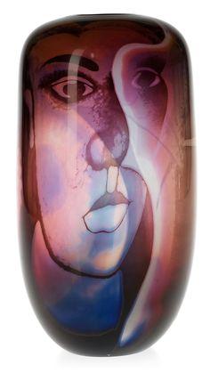 ** Eva Englund (Swedish, 1937-1998), Orrefors, Graal Glass Vase.