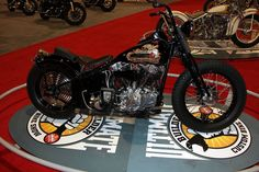 Congrats to Ben Jordan and his 1947 Harley-Davidson Knucklehead custom. It won first prize in the Ultimate Builder Competition's Modified Harley class at Charlotte, NC International Motorcycle Show.  It's a beautiful bobber right down to the mouse trap on the clutch and the tank shifter.