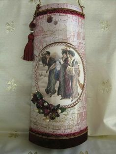 Handmade Crafts, Diy And Crafts, Roof Tiles, Decoupage, Decorative Boxes, Patches, Christmas Decorations, Vase, Wallpaper
