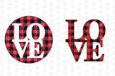 Buffalo Plaid Love Clipart (Graphic) by CoralCutsSVG · Creative Fabrica Crafty Projects, Vinyl Projects, Silhouette Projects, Silhouette Design, Buffalo Plaid Shirt, Valentine's Day Printables, Valentine T Shirts, Vinyl Designs, Shirt Designs