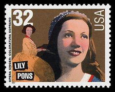 """Opera singer Lily Pons said, """"Stamp collecting — like music — makes one part of a great world-wide fraternity . . ."""""""