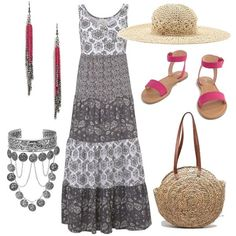 Asos, Summer Dresses, Boho, Outfit, Polyvore, Fashion, Outfits, Moda, Summer Sundresses