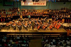 The choir of 1000 voices at the International Choral Kathaumixw. Choir, The Voice, Coast, Creativity, Wrestling, Concert, Greek Chorus, Recital, Concerts