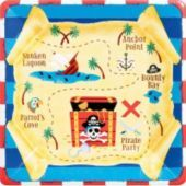 Pirate's Treasure Lunch Plates 8ct- Birthday Party Supplies - Party City