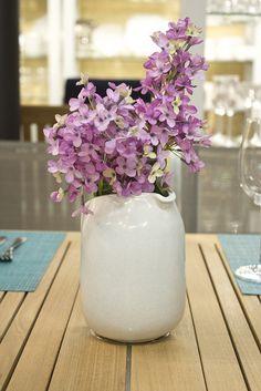 Heath Ceramics Pitcher, as a flower vase Heath Ceramics, Ceramic Pitcher, Blue Lagoon, Flower Vases, Floral Design, Table Settings, Craft Ideas, Drawing, Tableware