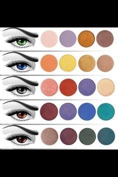 Match color eyeshadow and color eyes