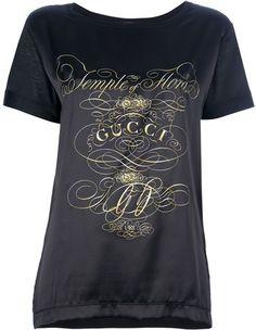 c01970ce356 Gucci Logo Print Boxy Tshirt - Lyst Super Cute