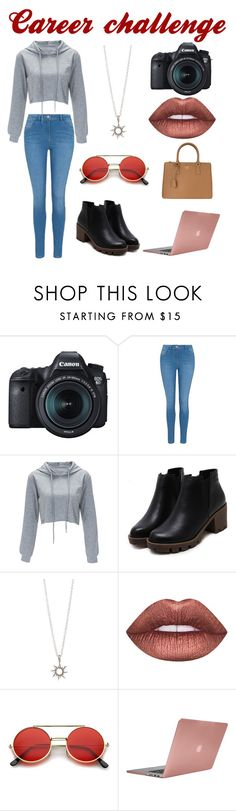 """""""Career challenge"""" by ember-lily-287 ❤ liked on Polyvore featuring Eos, George, Lime Crime, ZeroUV, Incase, Prada, photography, challenge and Careerchallenge"""