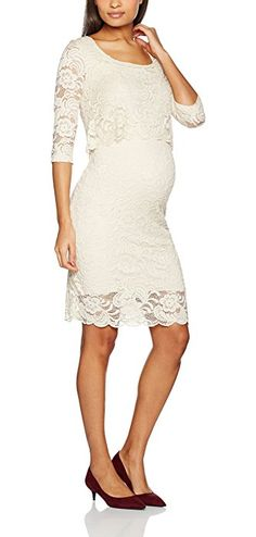 97a5e2114f Mamalicious Women s Mlmivane June 3 4 Woven Lace Nf Dress  Amazon.co.uk   Clothing