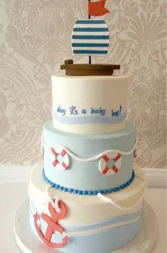 Baby Shower Nautical Cake